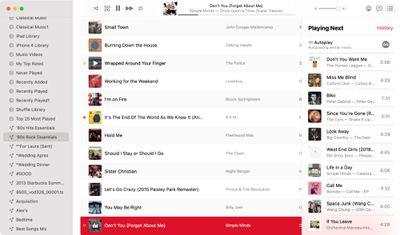 macos big sur apple music autoplay