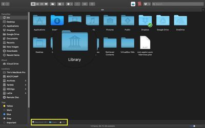 how to reveal the library folder on macos 1