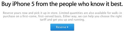 iphone 5 reservations uk