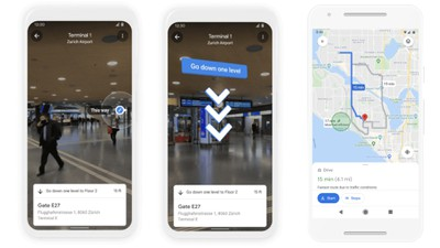 google maps ar eco route