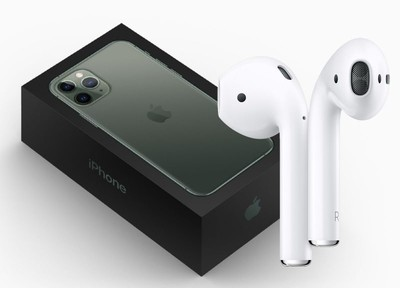 iphone 11 pro box with airpods