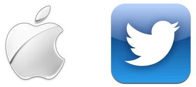 apple logo twitter icon