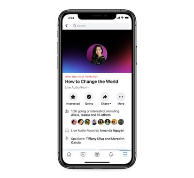 facebook live audio rooms clubhouse rival
