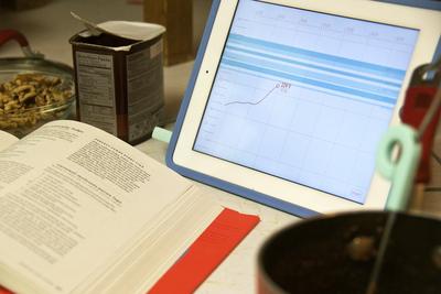 Range Thermometer With iPad