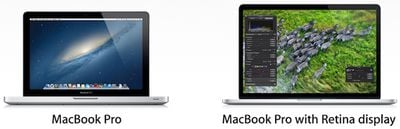 macbook pro retina side by side