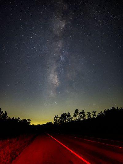 night photo road