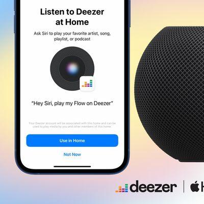 deezer homepod support