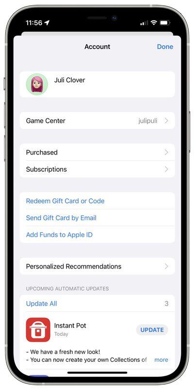 app store account design