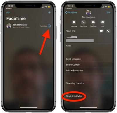 block facetime caller ios