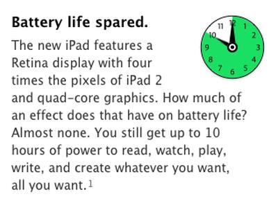 ipad 3 battery life