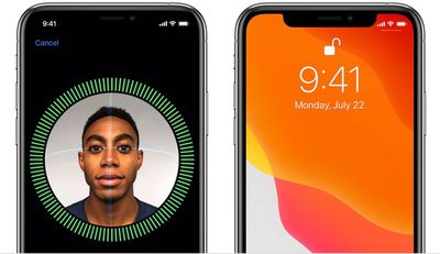 face id scan