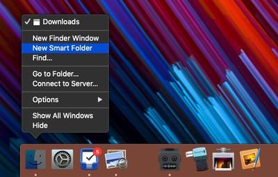 create a recent items folder 1