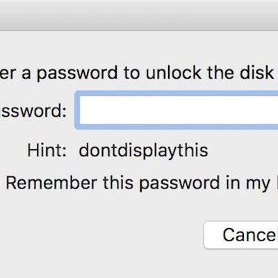 disk utility password prompt