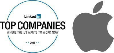 linkedin 2018 top companies