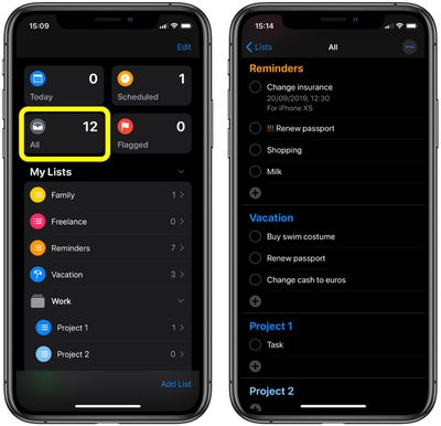 how to create nested reminders ios1