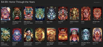itunes horror sale