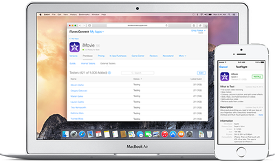 TestFlight iTunes Connect