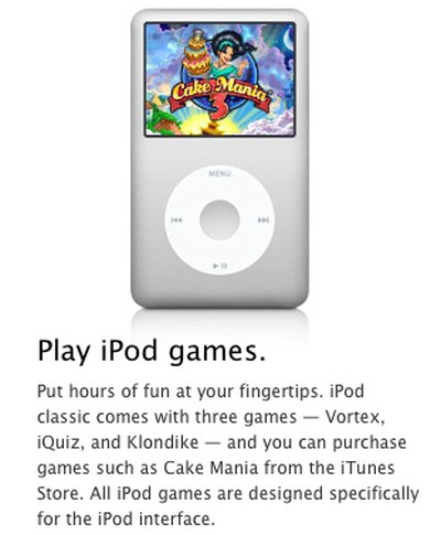 ipod classic click wheel games