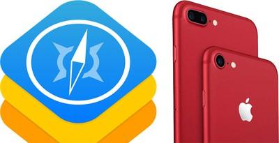 webkit red iphone