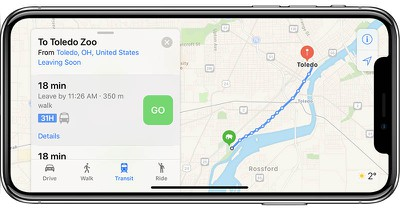 apple maps transit toledo