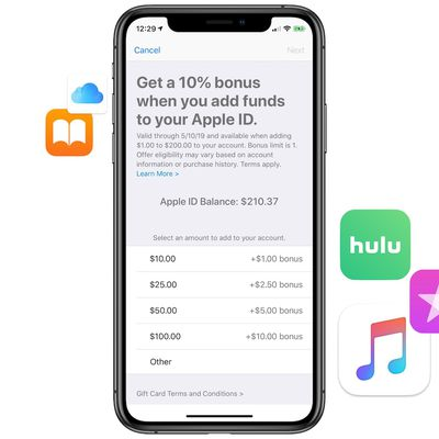 apple bonus credit may 2019