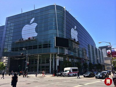 Apple Logo on Moscone