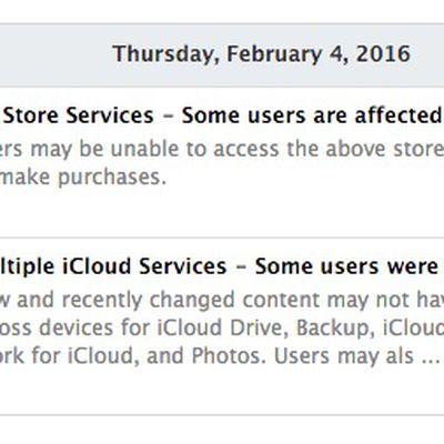 Apple System Status 2016