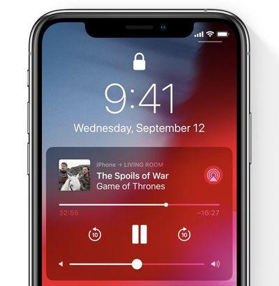 smart tv airplay lock screen