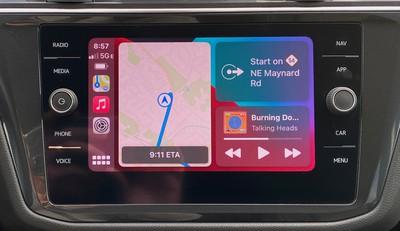tiguan 2021 carplay dashboard