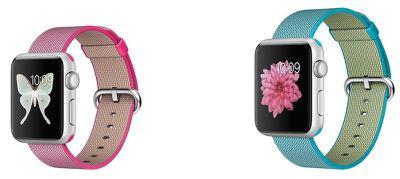 apple watch sport pink nylon