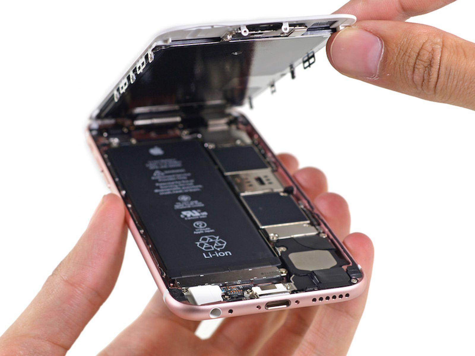 Iphone 6s Teardown 1715 Mah Battery Taptic Engine X Ray 3d Touch Display Macrumors