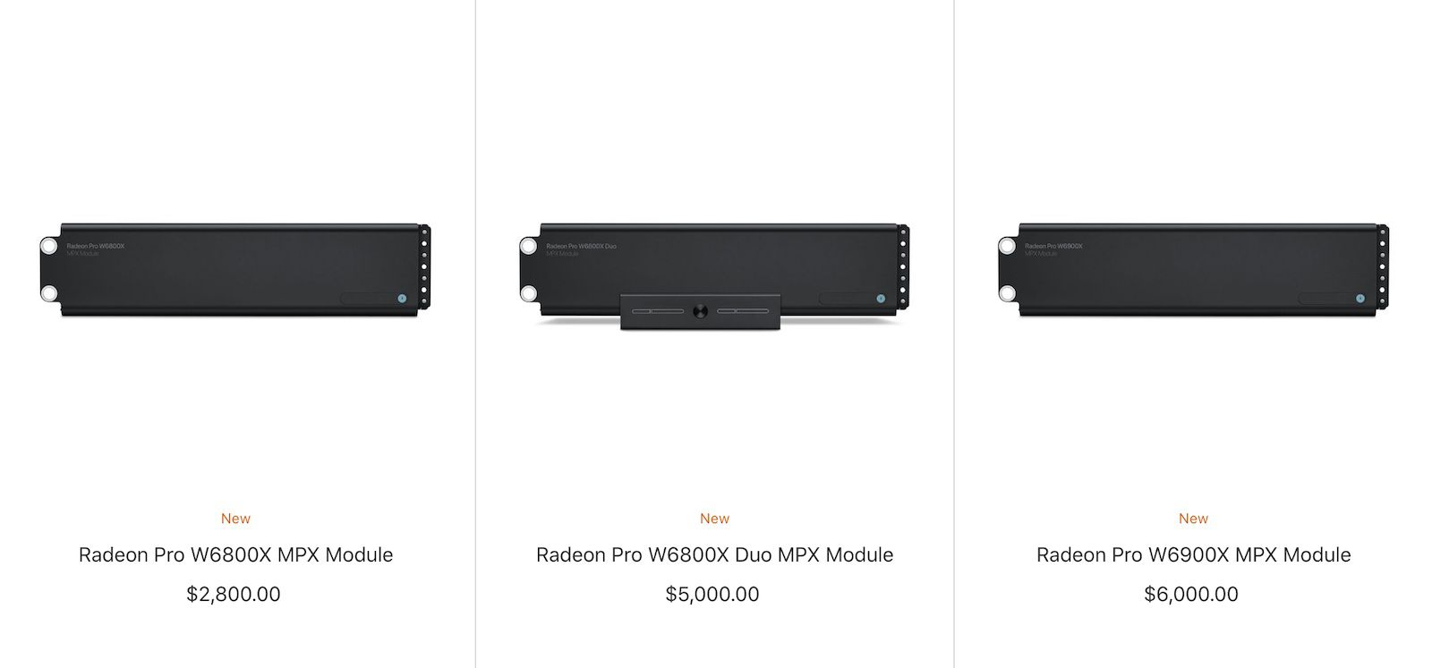 Mac Pro's New Radeon Pro W6000 Graphics Modules Now Available for Standalone Purchase