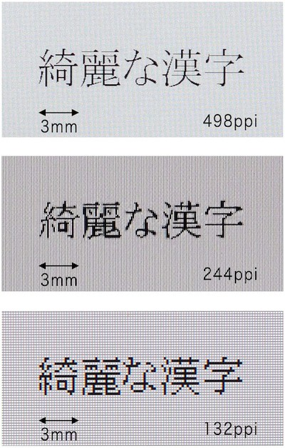 toshiba 498ppi display comparison