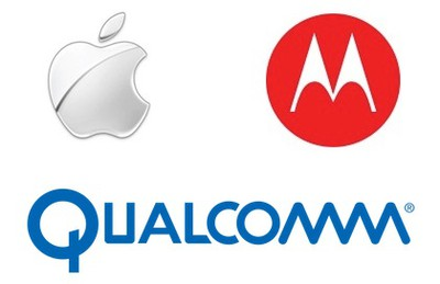 apple motorola qualcomm logos