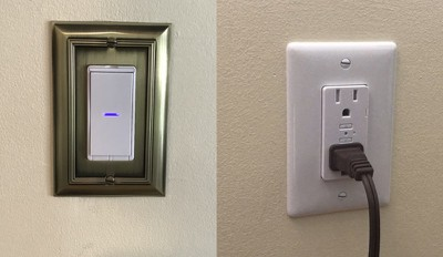 idevices wall switch outlet installed