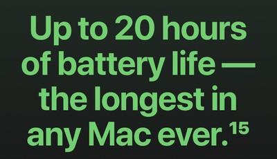 apple macbook pro m1 battery life