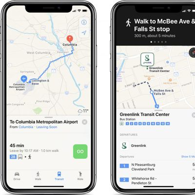 apple maps transit south carolina