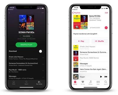 transfer spotify playlists to apple music