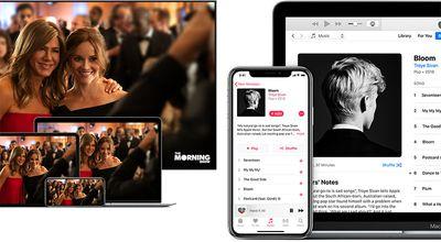 apple tv plus and apple music