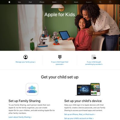 apple for kids support portal
