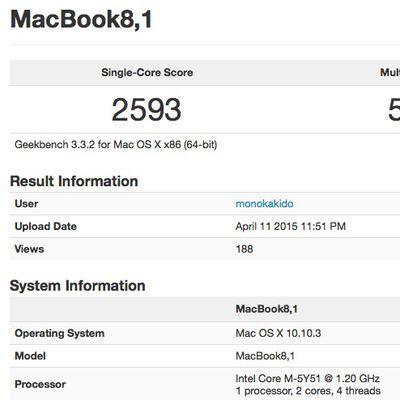 geekbench 1 2 ghz macbook