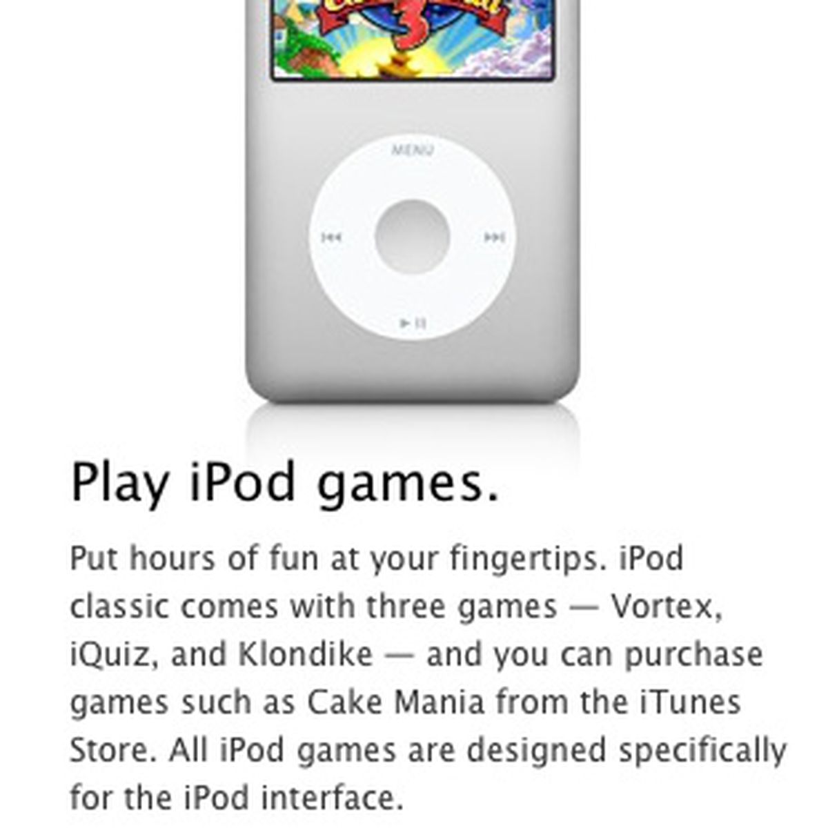Apple Removes Ipod Click Wheel Games From Itunes Macrumors