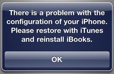 121133 ibooks jailbreak error