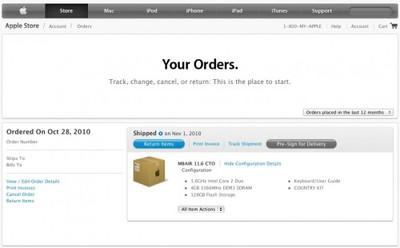 apple order status update jul11