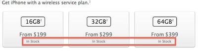 iphone 5 in stock