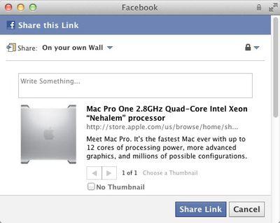 mac pro social facebook