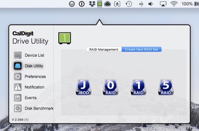 caldigit disk utility