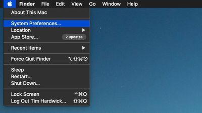 apple menu system preferences