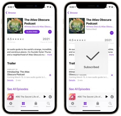 podcast app ios 14 4
