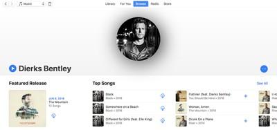 new apple music layout